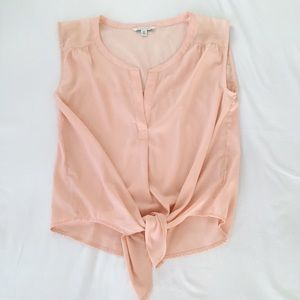 AE Peach Tie Up Blouse Tank